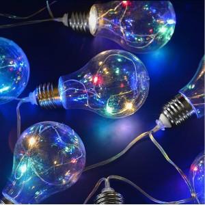 Гирлянда на солнечных батареях 400см разноцветная Uniel Лампочки USL-S-126/PT4000 Bulbs UL-00003332