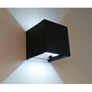 Уличный настенный светодиодный светильник Kink Light Куб 08585,19(4000K)