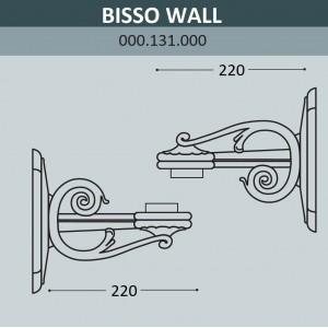 Консоль для паркового фонаря FUMAGALLI BISSO WALL 000.131.000.A0