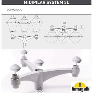 Консоль для паркового фонаря FUMAGALLI MIDIPILAR SYS 3L 000.000.A30.L0