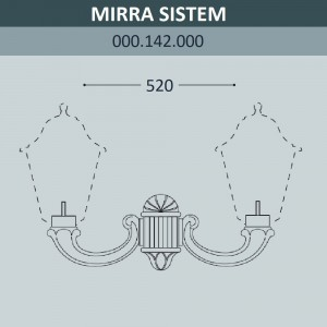 Консоль для паркового фонаря FUMAGALLI MIRRA SYS 000.142.000.A0