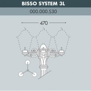 Консоль для паркового фонаря FUMAGALLI BISSO SYS 3L 000.000.S30.A0