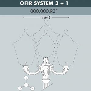 Консоль для паркового фонаря FUMAGALLI OFIR SYS 3L+1 000.000.R31.A0
