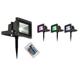 Светильник уличный Globo 34118S, черный, RGB LED, 1x10W