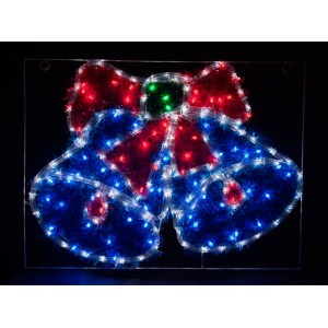 Световая фигура 230V 5м LED  белый+синий+зеленый+красный, 24 LED/1м, 9.6W, 20mA, IP 44, шнур 1,5м х1мм, LT016