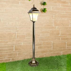 Apus F черное золото уличный светильник на столбе GL 1009F