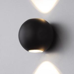DIVER черный уличный настенный светодиодный светильник 1566 TECHNO LED
