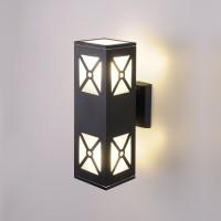 Уличный настенный светильник 1405 TECHNO черный 1405 TECHNO